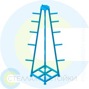 Торговая стойка с крюками для строительных дисков
