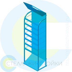 Усиленная стойка с ярусами под пластиковые полки