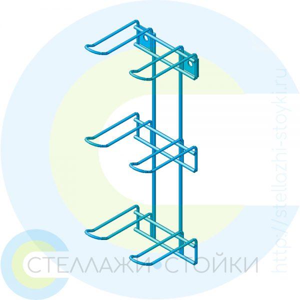 Двухрядная вертикальная торговая навеска с крючками