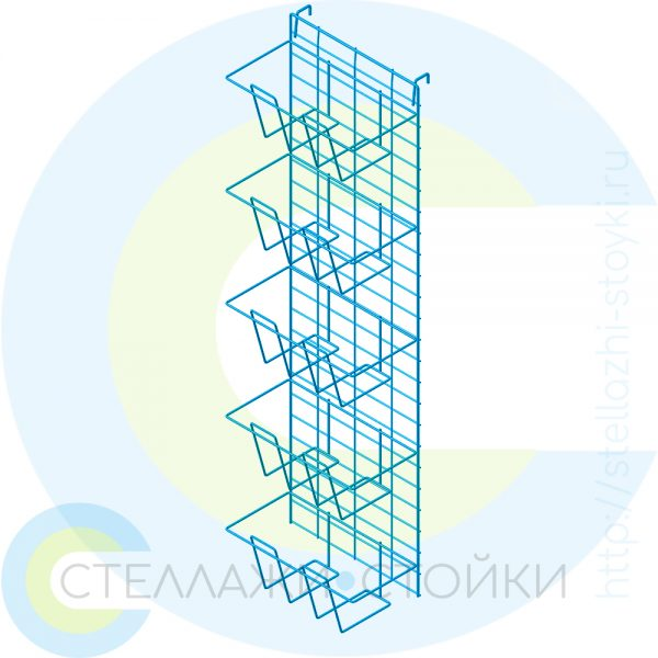 Вертикальная навеска с карманами на сетке