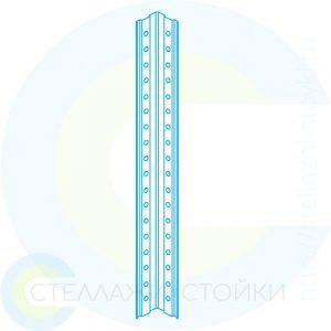 Стойка металлическая для стеллажей E-125 и Е-150