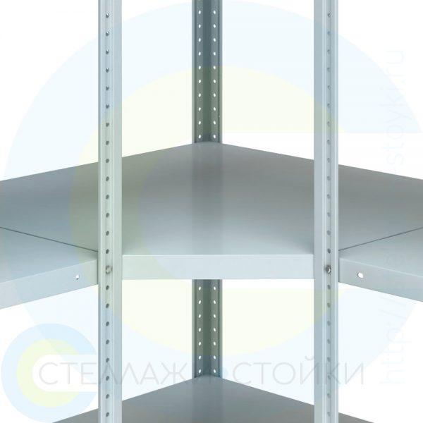 Полка угловая металлическая для стеллажей E-125 и Е-150